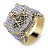DIAMONDSHAPE rings Hip Hop Ring <br> Iced Out All Seeing Eye Pendant Hip Hop Ring | Iced Out All Seeing Eye Pendant | Best Price Now