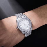 DIAMONDSHAPE watch Iced Presidential Mens Watch Luxury 18K White Gold Watch Hip Hop Charm Jewelry For Gift