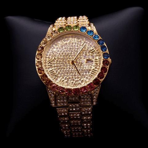 DIAMONDSHAPE Watches Hip Hop Watch<br> Iced Out Rainbow Diamond Watch Hip Hop Watch | Iced Out RainBow Diamond Watch | Best Price