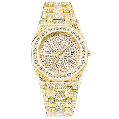 DIAMONDSHAPE Watches Gold Hip Hop Watch <br> Iced Out VLuxury Watch Hip Hop Watch <br> Iced Out VLuxury Watch | DIAMONDSHAPE