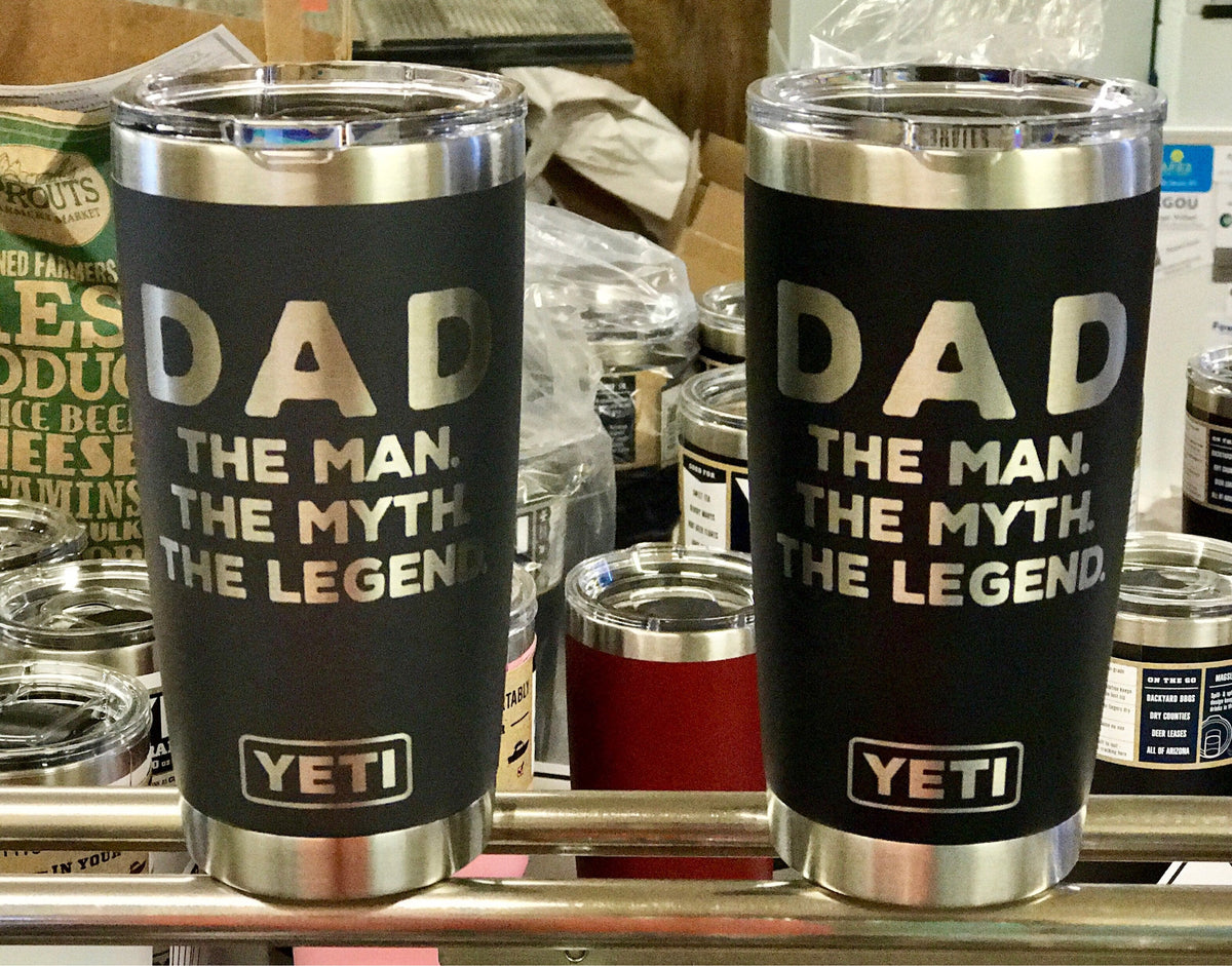 Laser Engraved Authentic Yeti Tumbler - MAN MYTH LEGEND