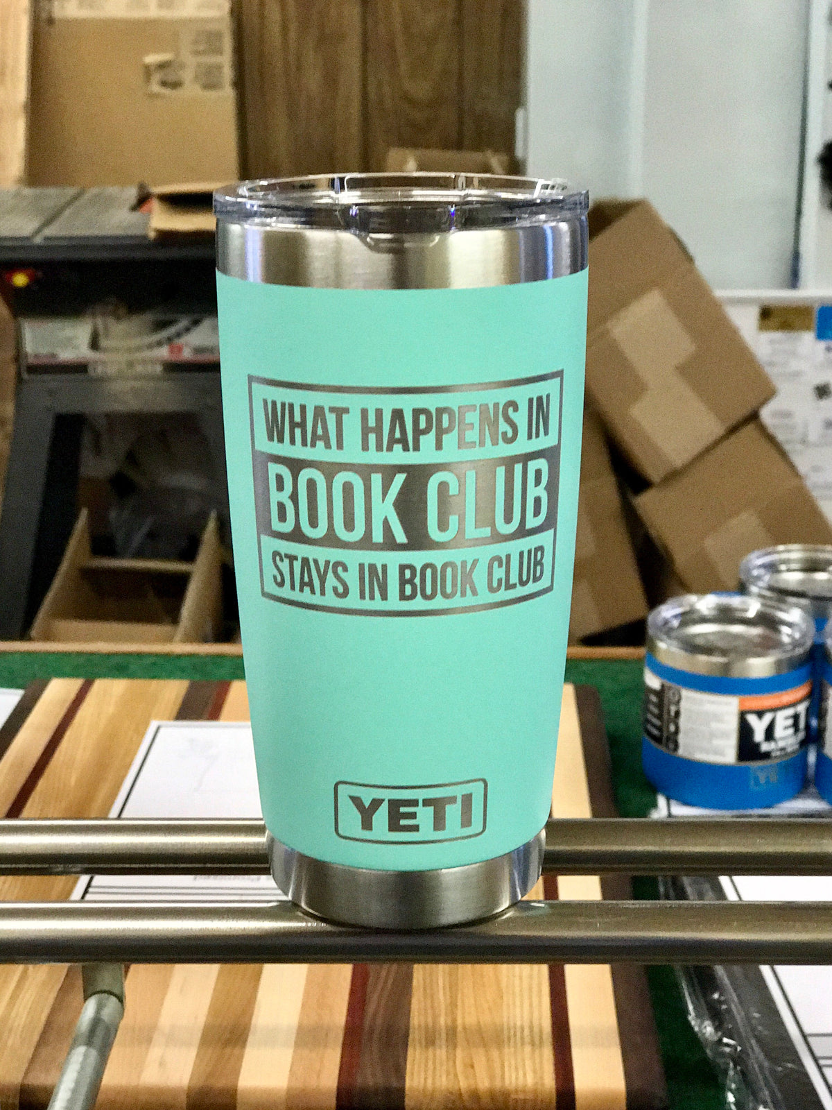 Laser Engraved Authentic Yeti Tumbler - BOOK CLUB