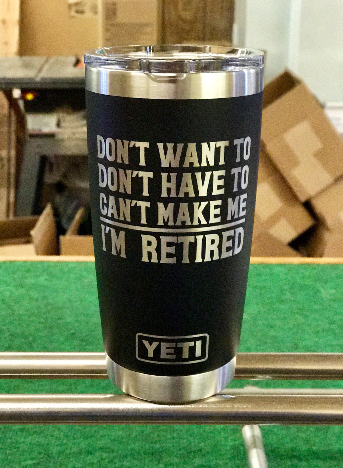 Laser Engraved Authentic Yeti Rambler - CAN'T MAKE ME