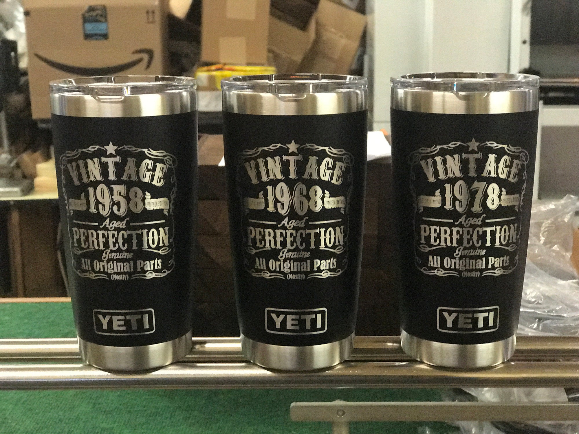 Laser Engraved Authentic Yeti Rambler - BIRTHDAY AGED PERFECTION