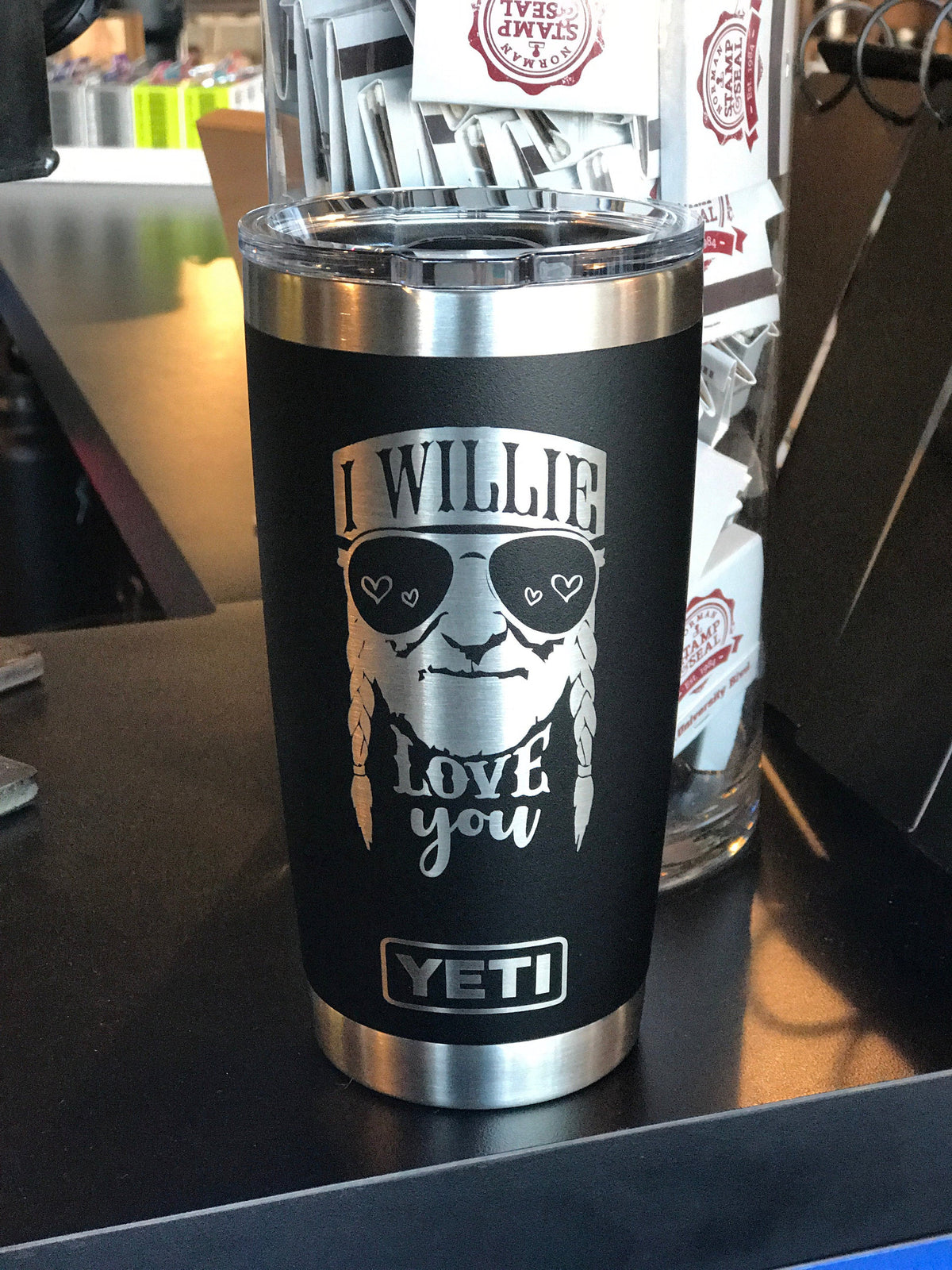 Laser Engraved Authentic Yeti Rambler - WILLIE LOVE YOU