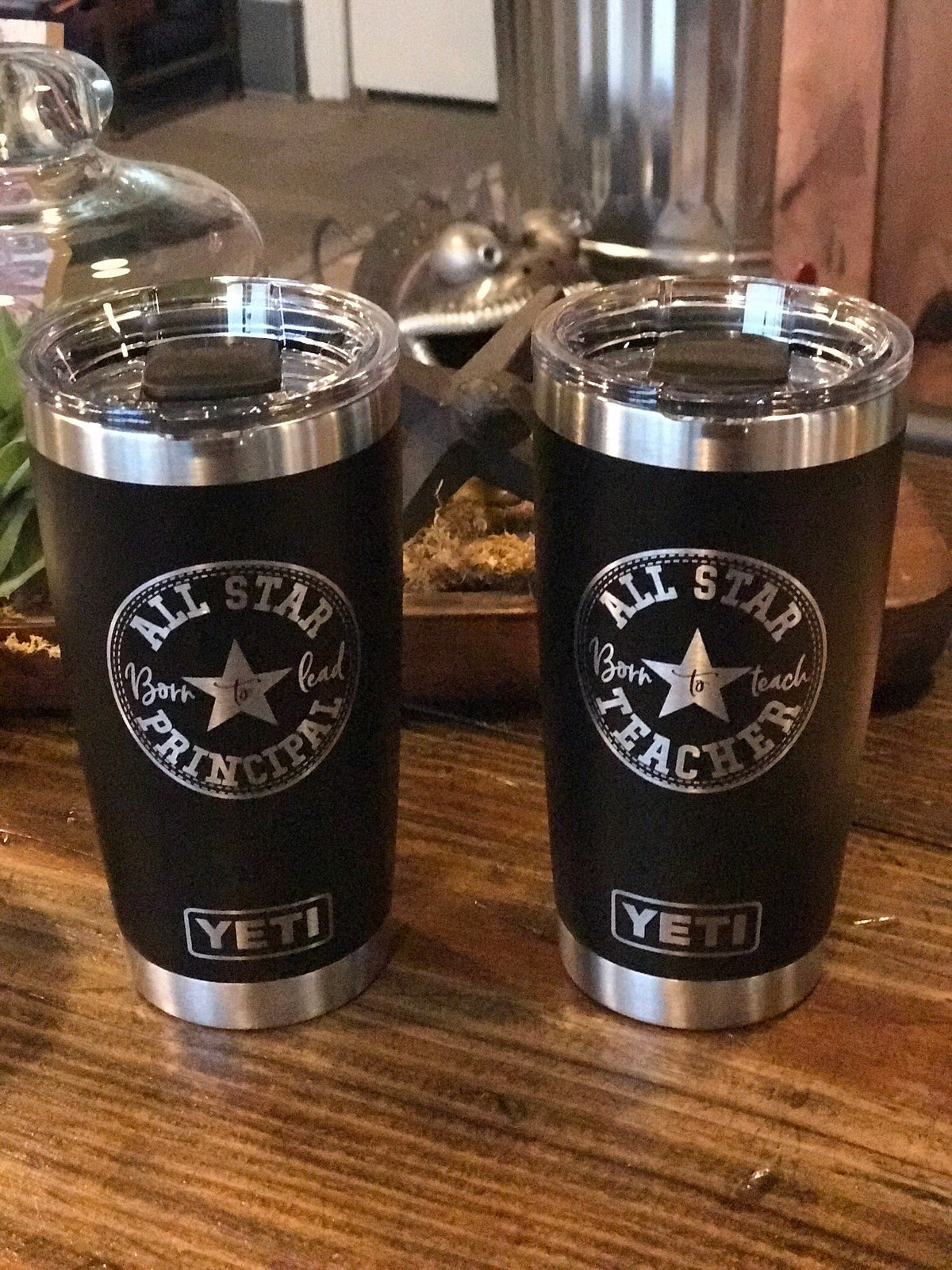 Laser Engraved Authentic Yeti Rambler - ALLSTAR TEACHER/PRINCIPAL