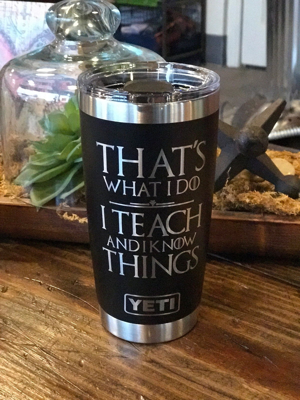 Laser Engraved Authentic YETI Rambler - TEACH & KNOW