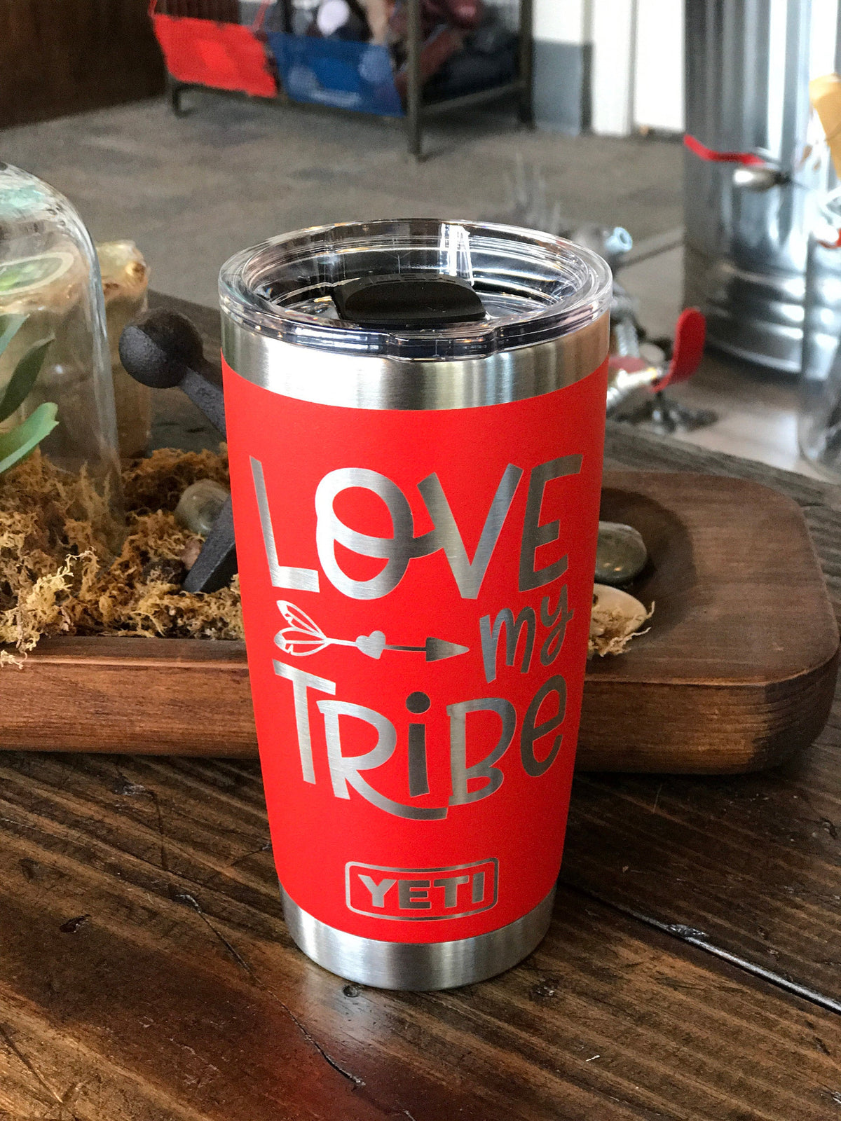 Laser Engraved Authentic Yeti Rambler - LOVE MY TRIBE