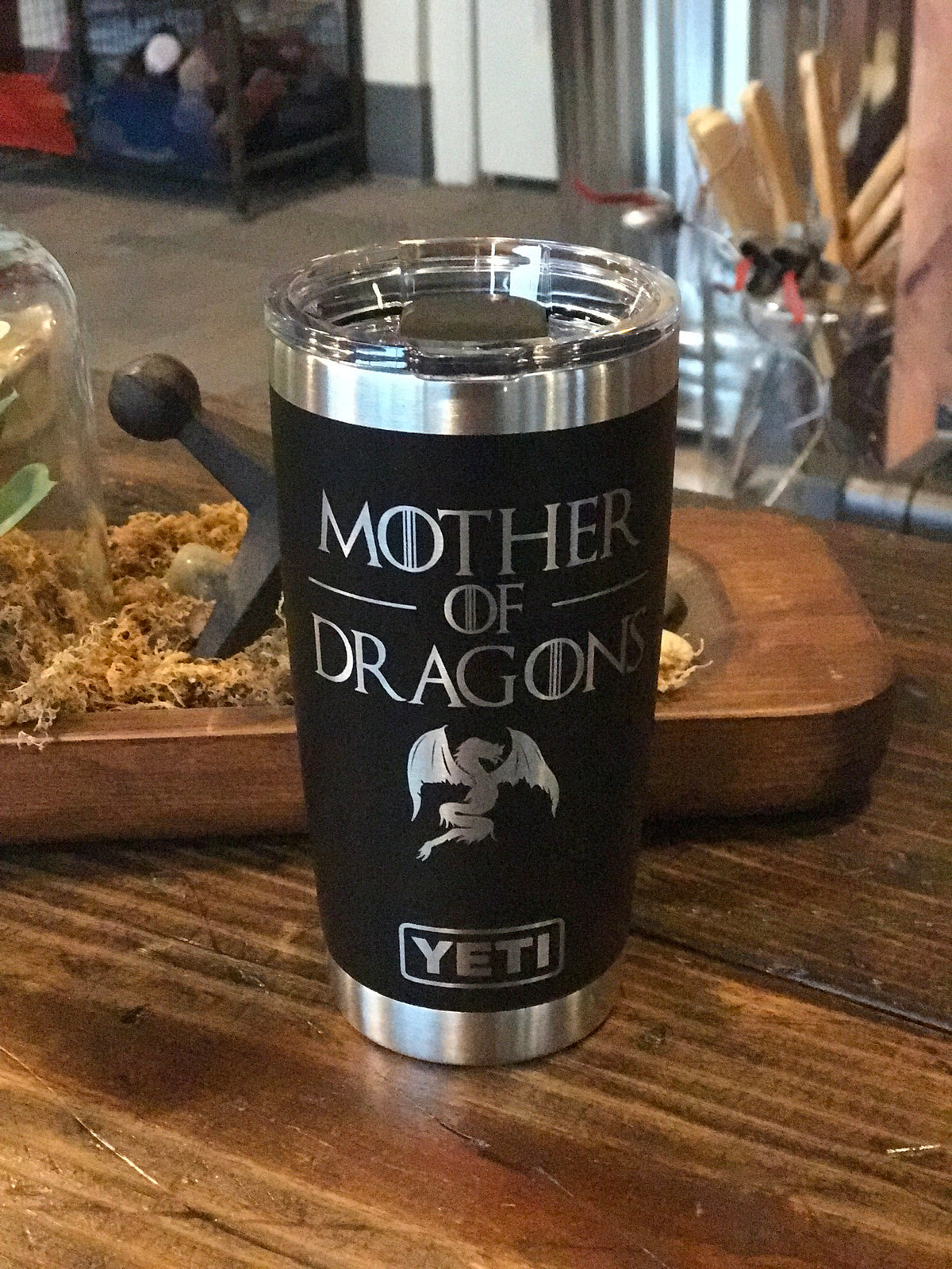 Laser Engraved Authetic Yeti Rambler - MOTHER OF DRAGONS