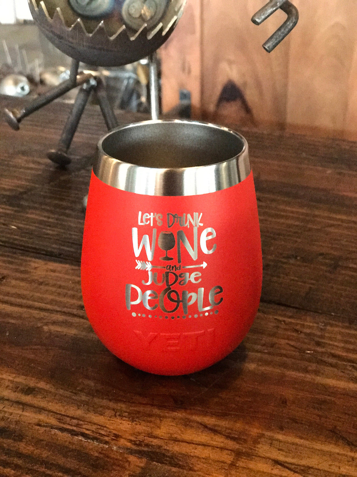 Laser Engraved Yeti Wine Tumbler - WINE & JUDGE PEOPLE