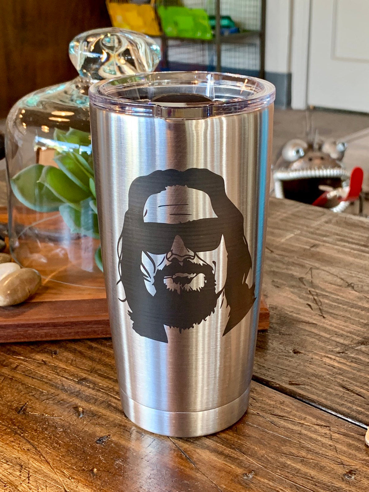 Laser Engraved Authentic Yeti Rambler - THE DUDE ABIDES