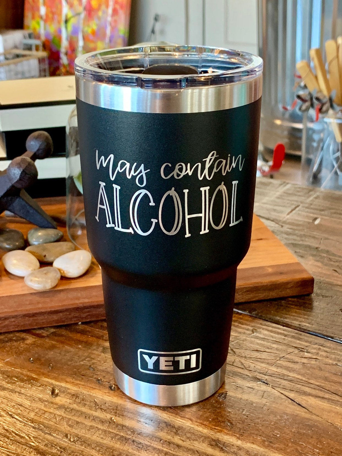 Laser Engraved Authentic Yeti Rambler - MAY CONTAIN ALCOHOL