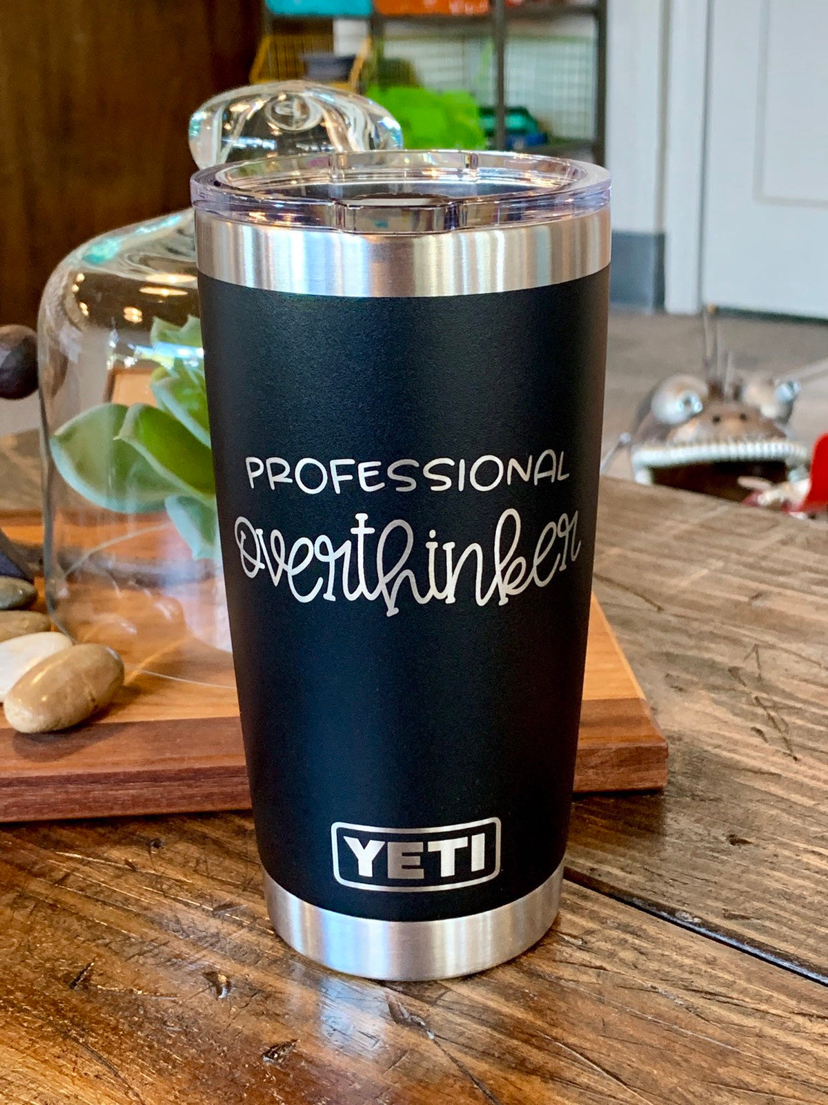 Laser Engraved Authentic Yeti Rambler - PROFESSIONAL OVERTHINKER