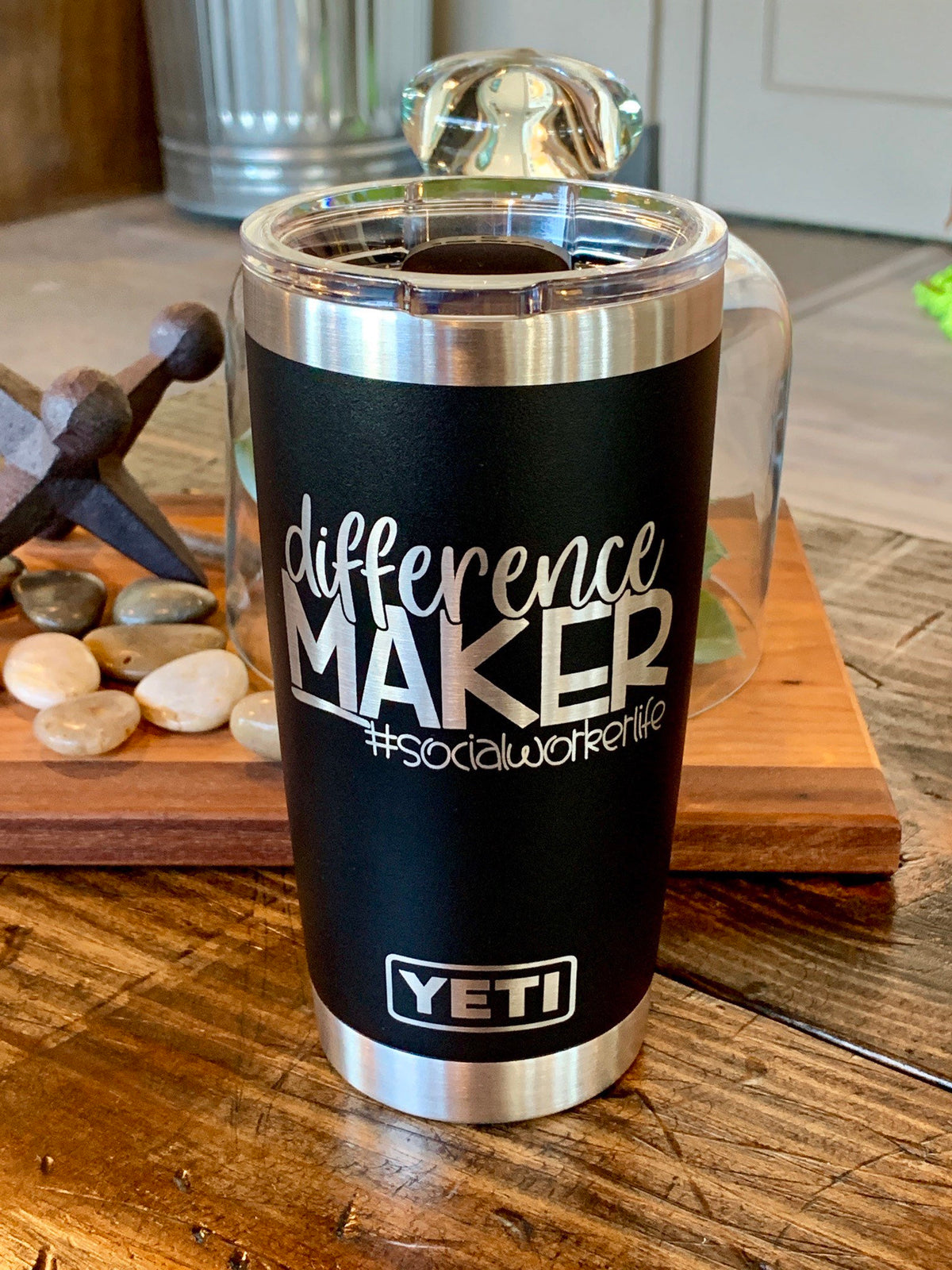 Laser Engraved Authentic YETI Rambler - DIFFERENCE MAKER