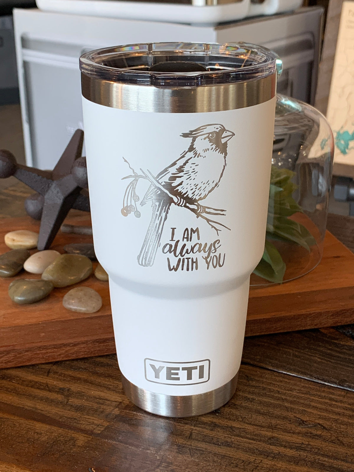 Laser Engraved Authentic YETI Rambler - CARDINAL