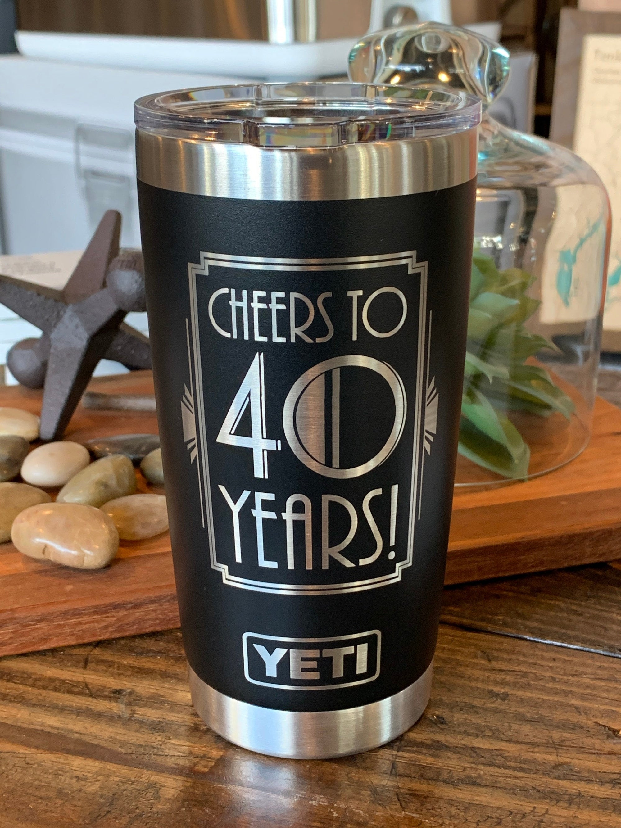Laser Engraved Authentic Yeti Rambler - CHEERS