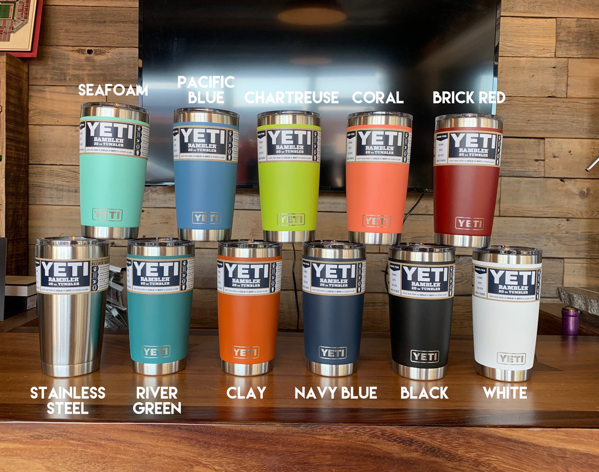 PERSONALIZED Authentic 20 oz Yeti Rambler - LASER ENGRAVED