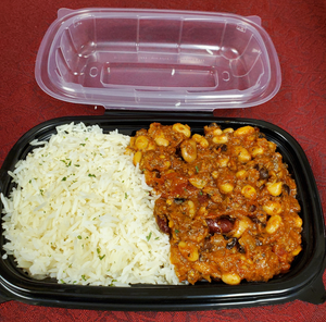 BEEF, CHILI CON CARNE, Frozen Meal - 2 Portions.