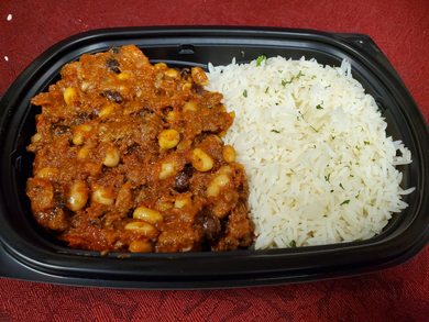 CHILI CON CARNE, Frozen Meal - Single Portion. GLUTEN FREE.