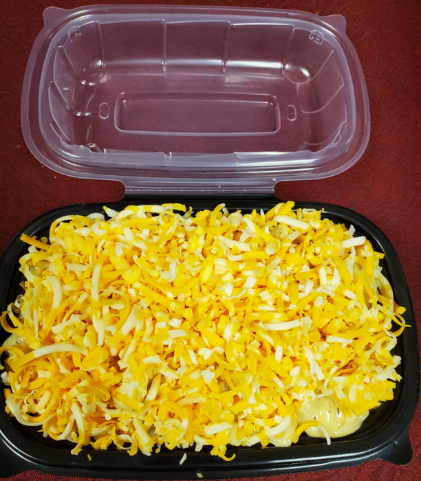 MACARONI AND CHEESE.  Frozen Meal. 2 Portions.