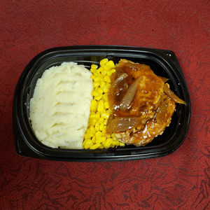 SALISBURY STEAK, Frozen Meal.  SINGLE PORTION
