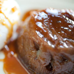 STICKY TOFFEE PUDDING. Single Piece. 2 Portions