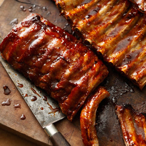 Half Rack Of Pork Ribs.  Single Portion. Meaty and Delicious