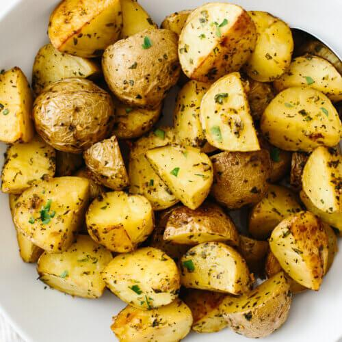 POTATOES, ROAST. Single Portion. 200 grams.