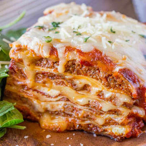 BEEF LASAGNA. Frozen Entree. 6 Portions.