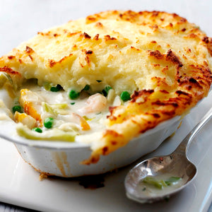 FISH PIE.  2 Portions. Frozen