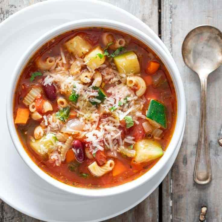 SOUP, MINESTRONE. 1 Liter. (4 Cups)