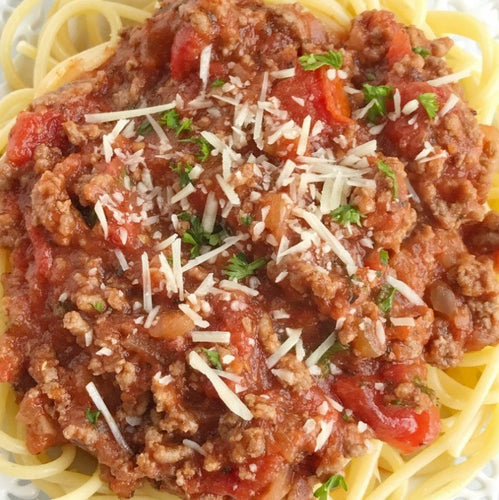 SPAGHETTI & MEAT SAUCE. Frozen Meal. SINGLE PORTION.