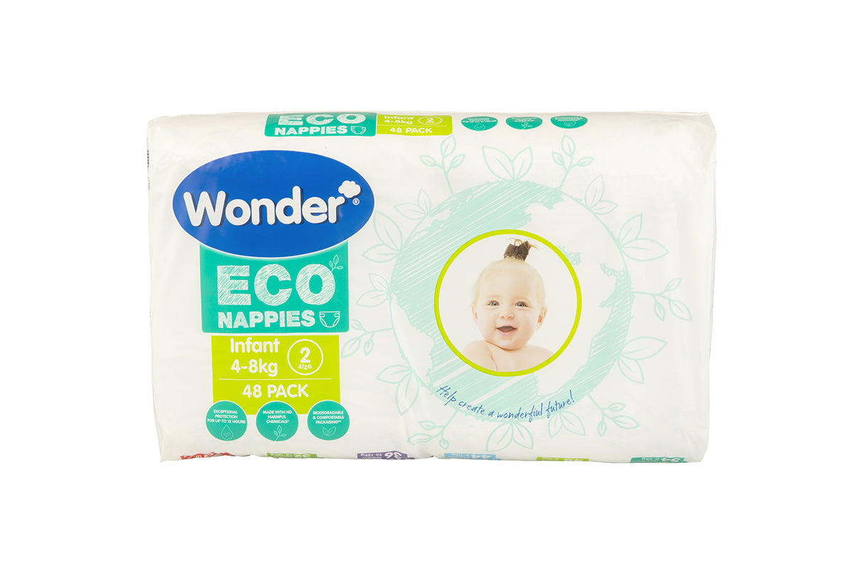 wonder eco nappy infant size 2 bulk pack horizontal