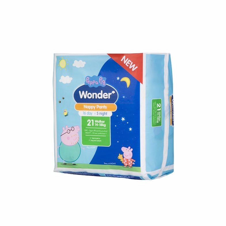 Peppa Pig Wonder Day & Night Nappy Pants Handy Pack - Walker