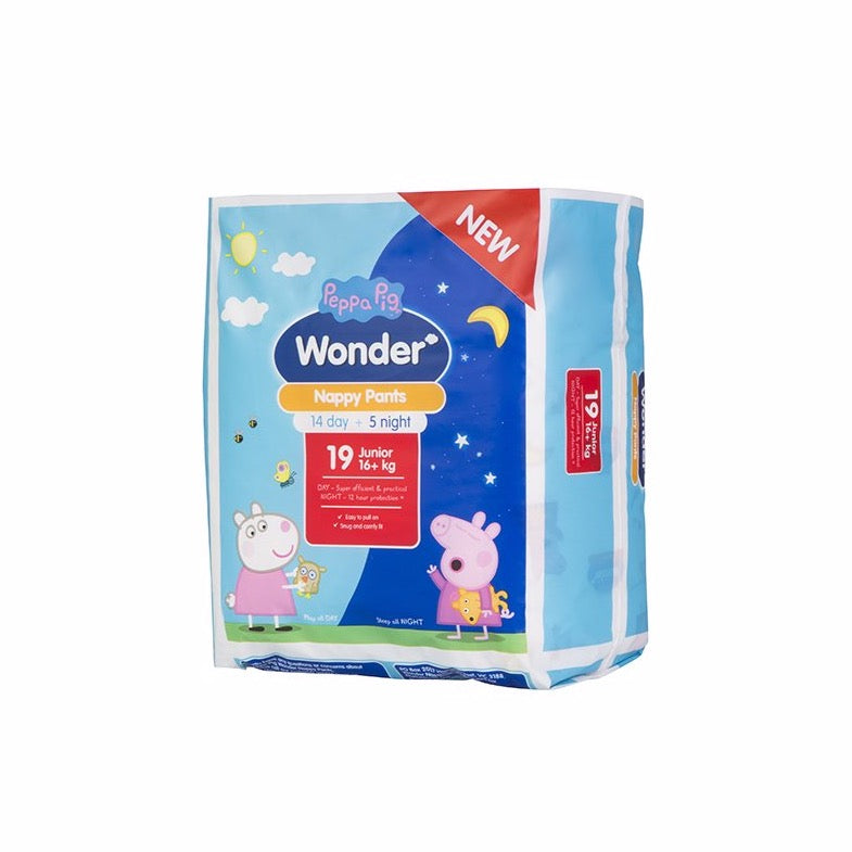 Peppa Pig Wonder Day & Night Nappy Pants - Junior
