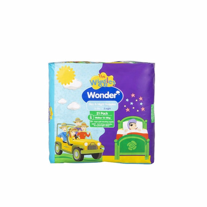 Wonder Wiggles Day & Night Nappy - Crawler 21 pack