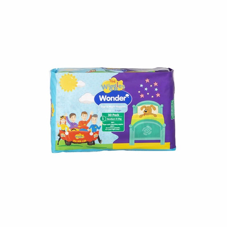 Wiggles Wonder Day & Night Nappy - Newborn