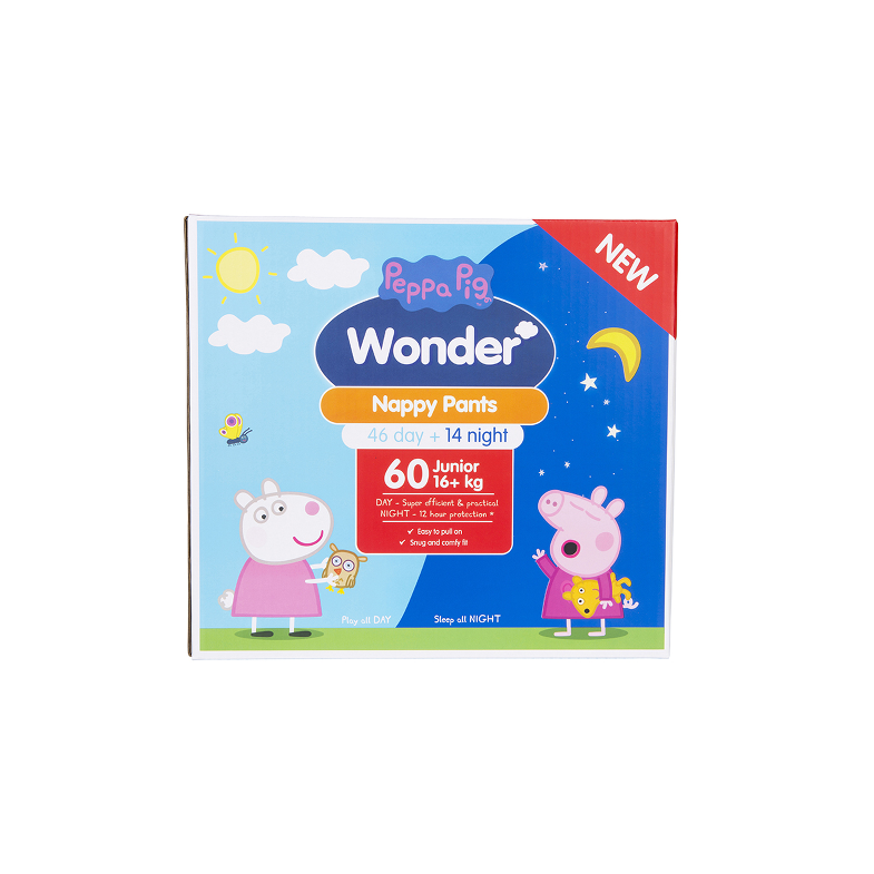 Peppa Pig Wonder Day & Night Nappy Pants Jumbo Pack - Junior