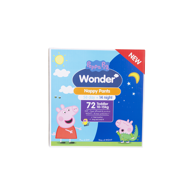 Peppa Pig Wonder Day & Night Nappy Pants Jumbo Pack - Toddler