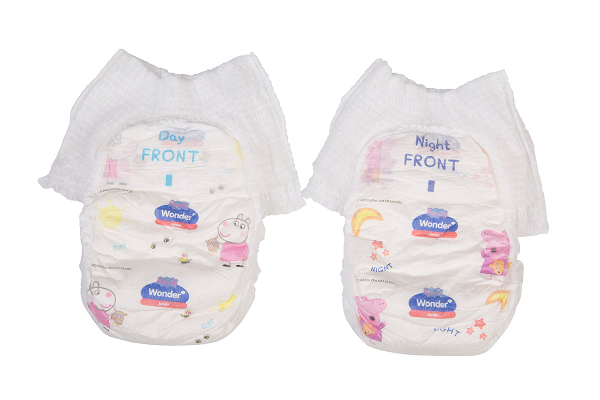 Peppa Pig Wonder Day & Night Nappy Pants Handy Pack - Junior
