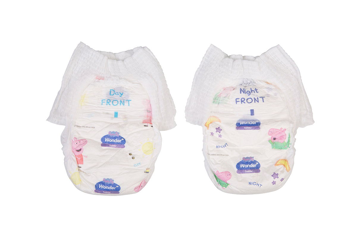Peppa Pig Wonder Day & Night Nappy Pants Handy Pack - Toddler