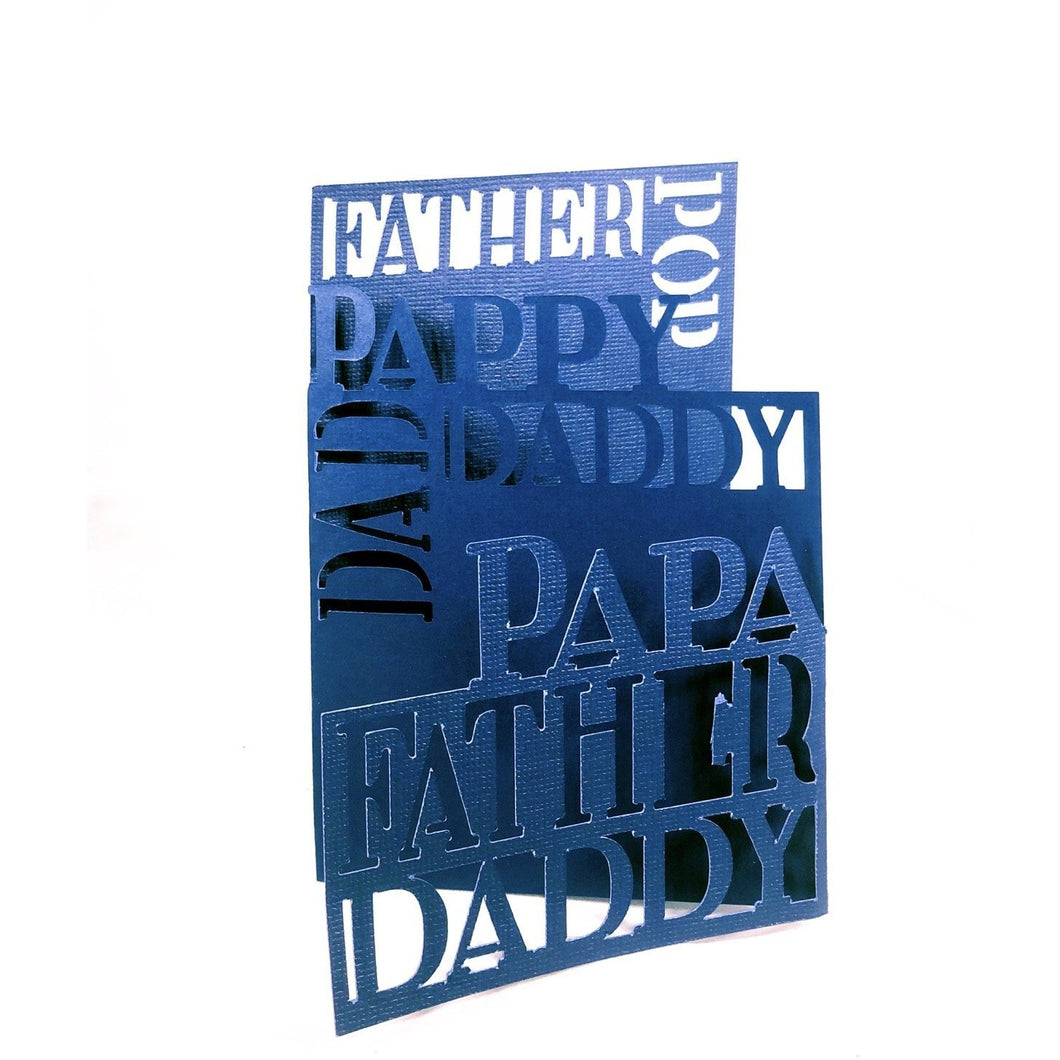 Father, Dad, Papa Three Fold Card