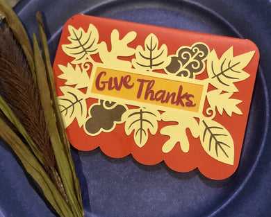 Give Thanks (leaves) - Kards By Kyla
