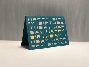 Happy Birthday (Letters) - Kards By Kyla