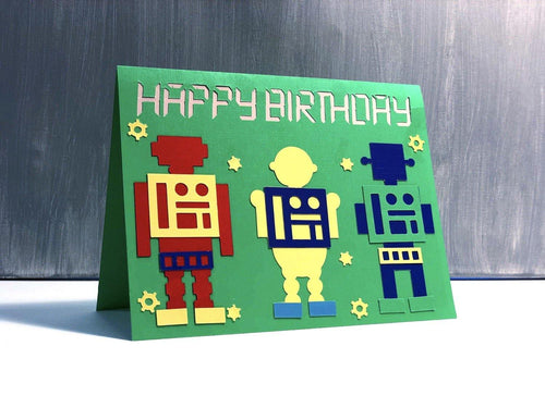 Happy Birthday Robot - Kards By Kyla