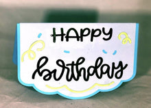 Load image into Gallery viewer, Happy Birthday (scalloped edges) - Kards By Kyla