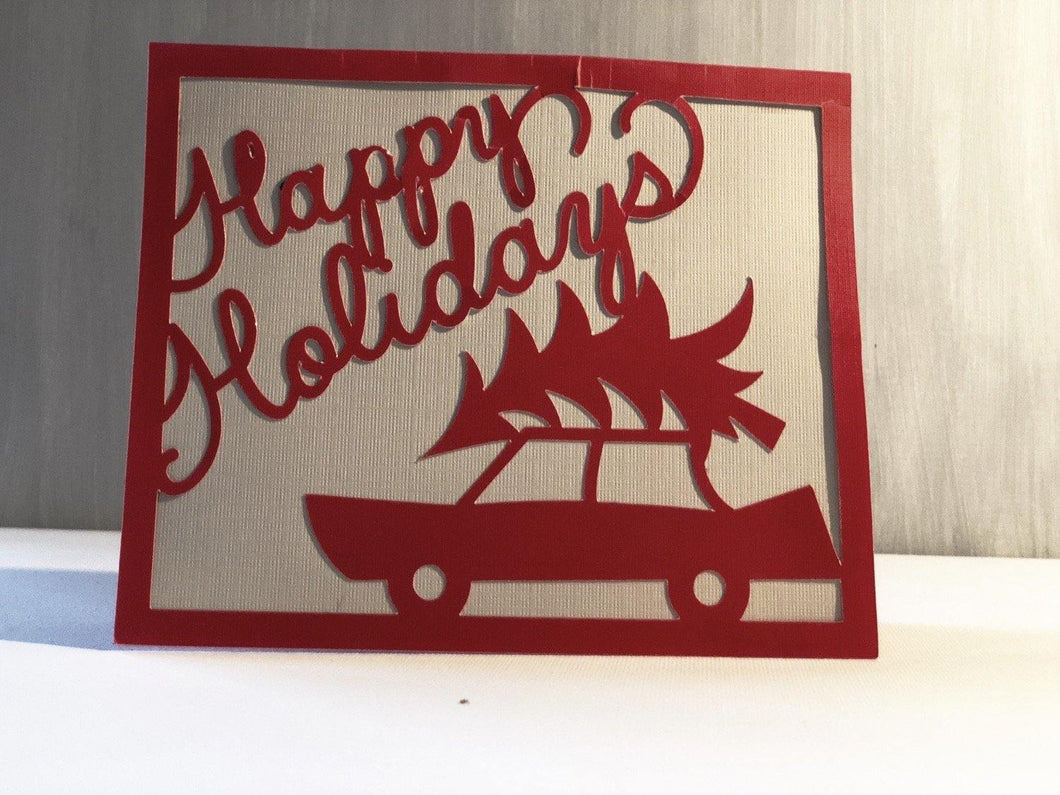 Happy Holidays (Car) - Kards By Kyla