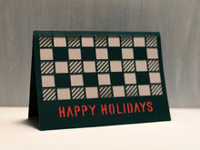 Load image into Gallery viewer, Happy Holidays (plaid) - Kards By Kyla