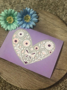 Layered Flower Heart - Kards By Kyla