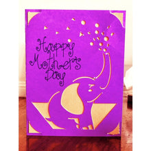 Load image into Gallery viewer, Mothers Day Elephant - Kards By Kyla